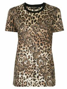 Dolce & Gabbana leopard print T-shirt - Brown