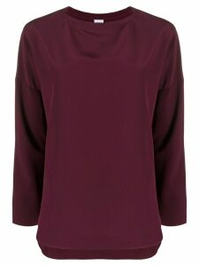 Aspesi boat-neck blouse - PURPLE