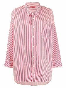 Denimist oversized striped shirt - White