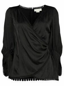 Sachin & Babi Gwen wrap blouse - Black