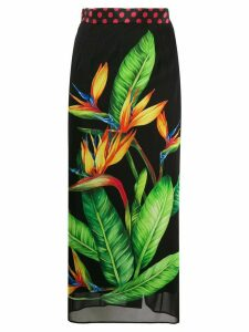 Dolce & Gabbana Bird of Paradise print tube skirt - Black