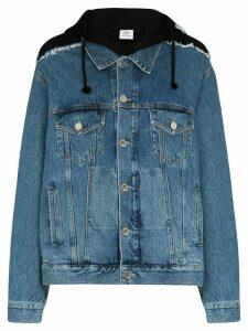 Vetements oversized hooded denim jacket - Black