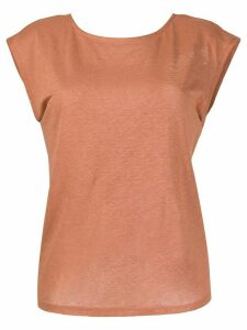 Forte Forte draped back T-shirt - Brown