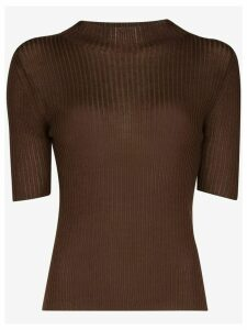 st. agni Agata back tie top - Brown