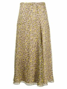 Theory leopard-print silk skirt - NEUTRALS