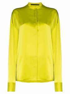 Haider Ackermann collarless shirt - Yellow