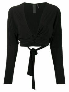 Norma Kamali Dolman Wrap blouse - Black