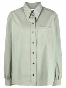 Lemaire plain long sleeve shirt - Green