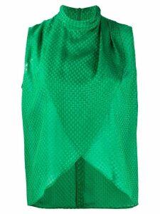 Roseanna sleeveless geometric print blouse - Green