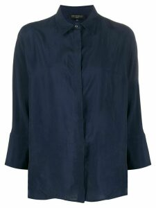 Antonelli cropped sleeve shirt - Blue