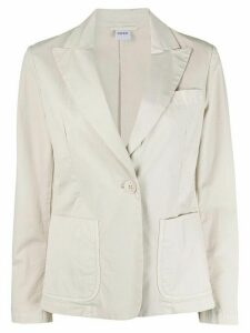 Aspesi single-breasted patch pocket blazer - NEUTRALS