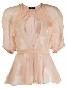 Dsquared2 geometric cut-out blouse - NEUTRALS