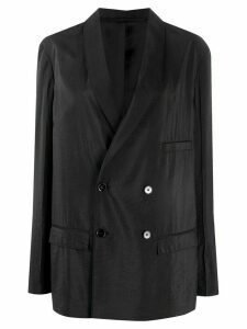 Lemaire oversized double-breasted blazer - Black