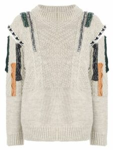 Toga patchwork knit jumper - Grey