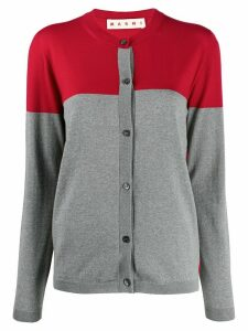 Marni colour-block knitted cardigan - Grey