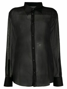 Dsquared2 sheer button-down shirt - Black