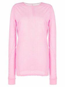 Rick Owens fine knit long-sleeve T-shirt - PINK