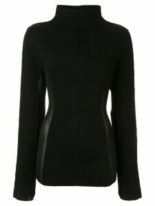 Yang Li contrasting side panels jumper - Black