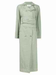 Lemaire double-breasted gathered dress - Green