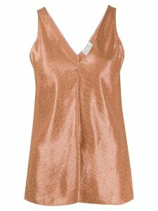 Forte Forte metallic sleeveless top - NEUTRALS