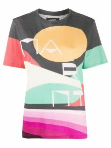 Isabel Marant Zewel graphic print T-shirt - Grey