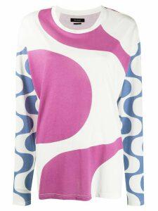 Isabel Marant abstract pattern shirt - White