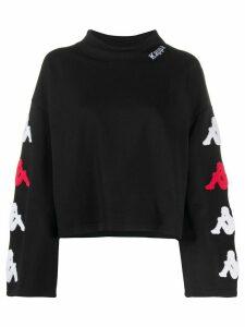 Kappa logo print cropped sweatshirt - Black