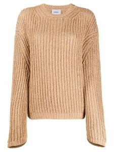 Nanushka split back jumper - Brown