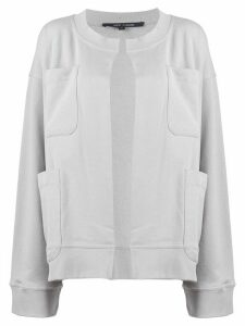 Sofie D'hoore oversized long-sleeve jacket - Grey