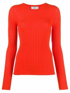 Ami Paris crew neck knitted jumper - Red