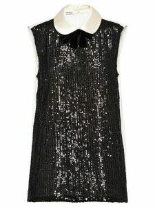 Miu Miu sequin embellished top - Black