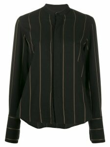 Ami Paris striped mandarin collar shirt - Black