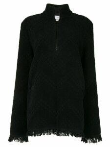 Marine Serre jacquard oversized sweatshirt - Black
