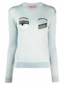 Chiara Ferragni embroidered Flirting jumper - Blue