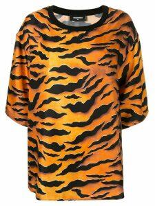 Dsquared2 tiger print T-shirt - ORANGE