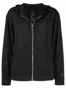 Rick Owens X Champion mesh zip through hoodie - Black