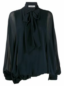 Valentino pussybow pouf sleeve blouse - Blue