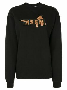MSGM cat logo-print sweatshirt - Black