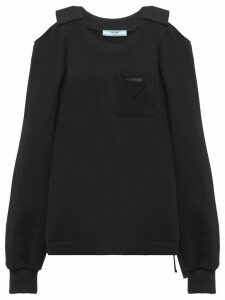 Prada cold shoulder sweatshirt - Black