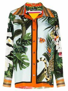 Dolce & Gabbana animal-print shirt - Green