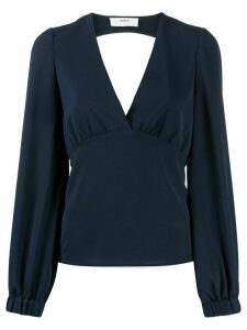 Ba & Sh low-cut v-neck blouse - Blue