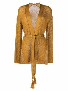 Forte Forte open front belted cardigan - Yellow