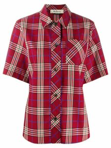 Mulberry Valeria tartan check shirt - Red