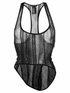 Ann Demeulemeester sheer tank top - Black