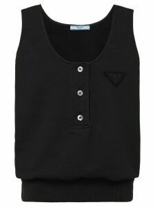 Prada triangle patch tank top - Black