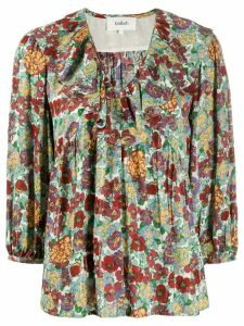 Ba & Sh Polly floral v-neck blouse - Red
