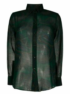 Saint Laurent paisley-print long-sleeved shirt - Green