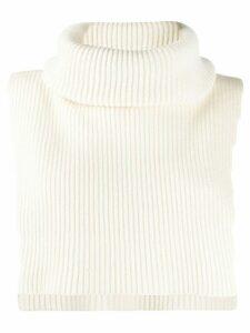Cashmere In Love roll-neck Brooke crop sweater - NEUTRALS