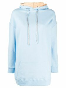 Chiara Ferragni oversized cotton hoodie - Blue