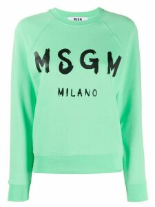MSGM logo print sweatshirt - Green